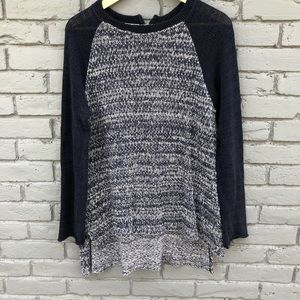 Relais [Anthro] Navy Oversized Sweater sz M